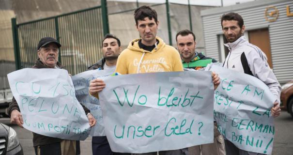 Români cu salarii neprimite de luni de zile