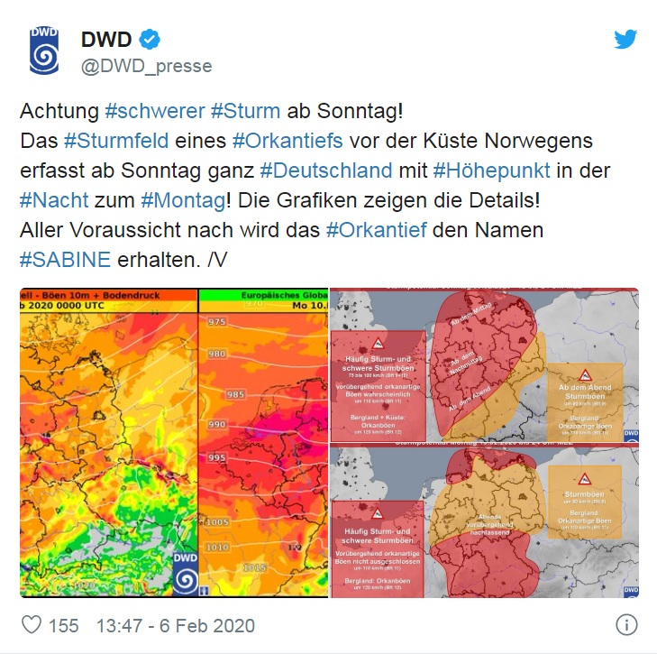Furtuna Sabine Va Lovi Germania La Sfarșitul Săptămanii